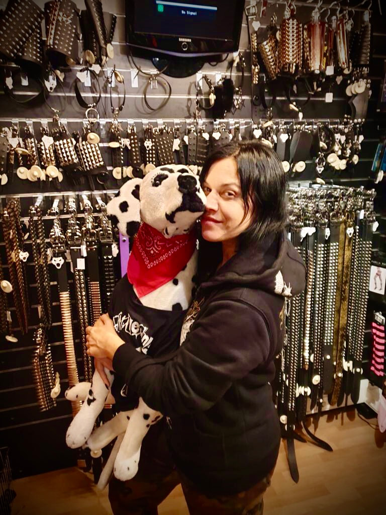 Lacuna Coil's singer Cristina Scabbia shopping at Rattlesnake