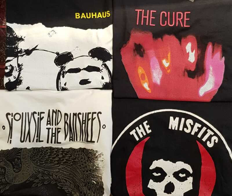 Bauhaus, The Cure, Siouxsie And The Banshees, The Misfits, Bandshirts, T-Shirts